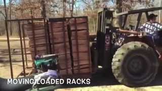 Mobile Firewood Racks That Can Be Transported And Moved With Forklift