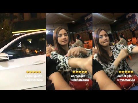 Comel Fazura Singsing Lengan Tengok Fattah Amin & Tiz Zaqyah Dalam Kereta