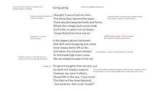 'going Going' By Philip Larkin Analysis