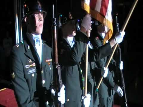 Pride of the 18th airborne corp colorguard