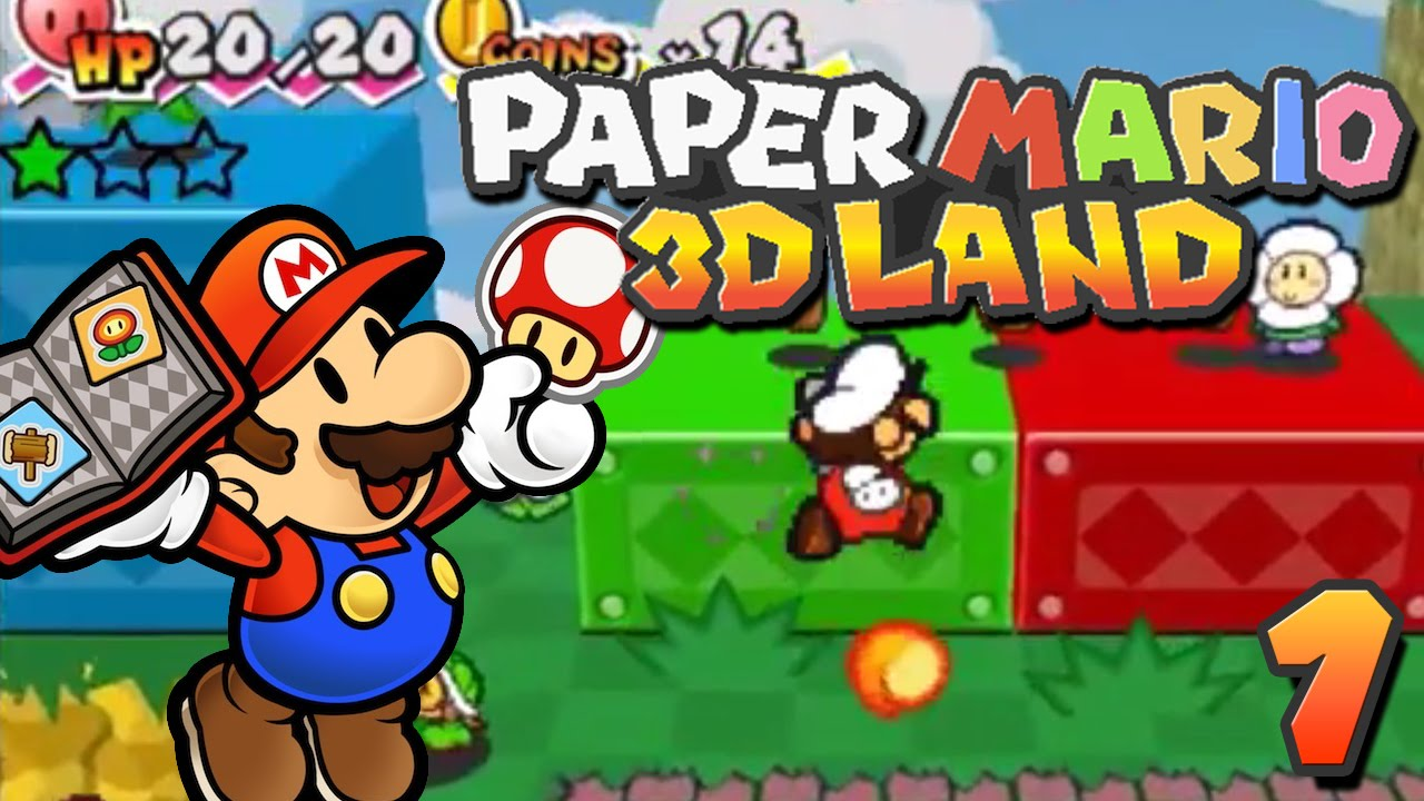 Paper Mario 3d Land 100 Walkthrough Part 1 World 1 1 1 2 Youtube