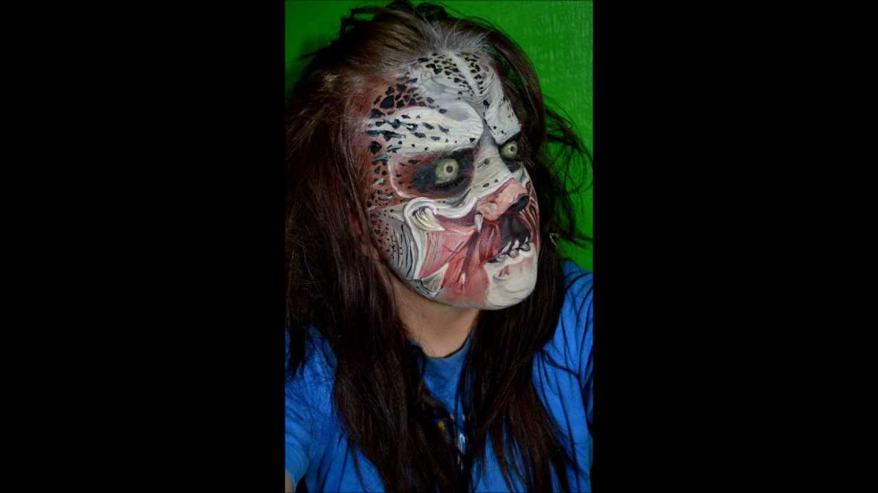Predator Face Paint - YouTube