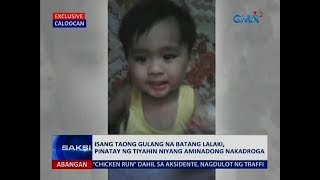 Saksi: Paslit, pinatay ng tiyahing umaming nakadroga
