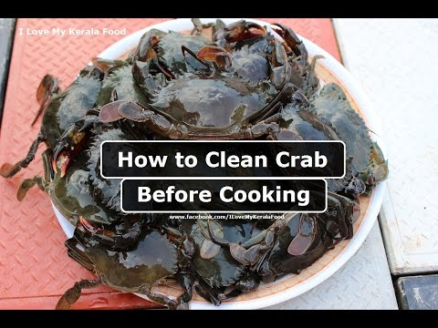 How to clean Crab before cooking- chinnuz' I Love My Kerala Food