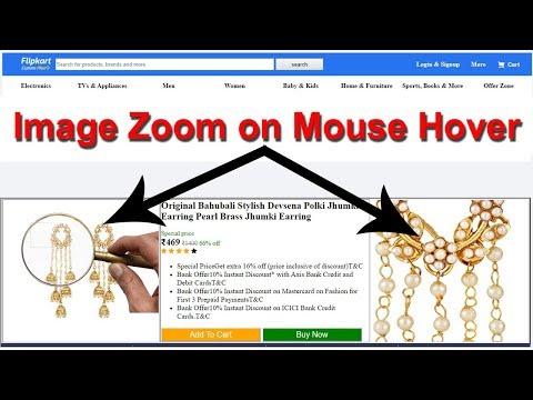 17. Flipkart - Amazing Image Zoom Effect, HTML Tutorial For Beginners, E Commerce Website