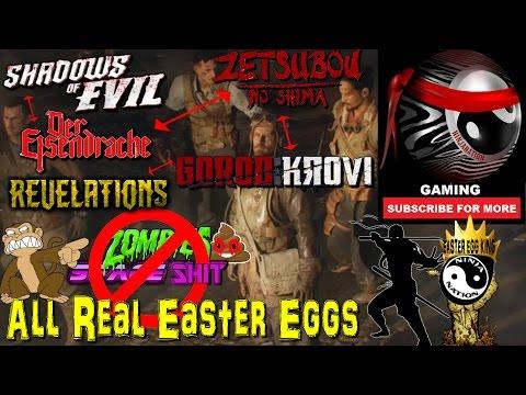 REAL ZOMBIES MARRATHON | THE FULL BO3 ZOMBIES EASTER EGG STORY ( SOE,DE,ZNS,GK & REV)