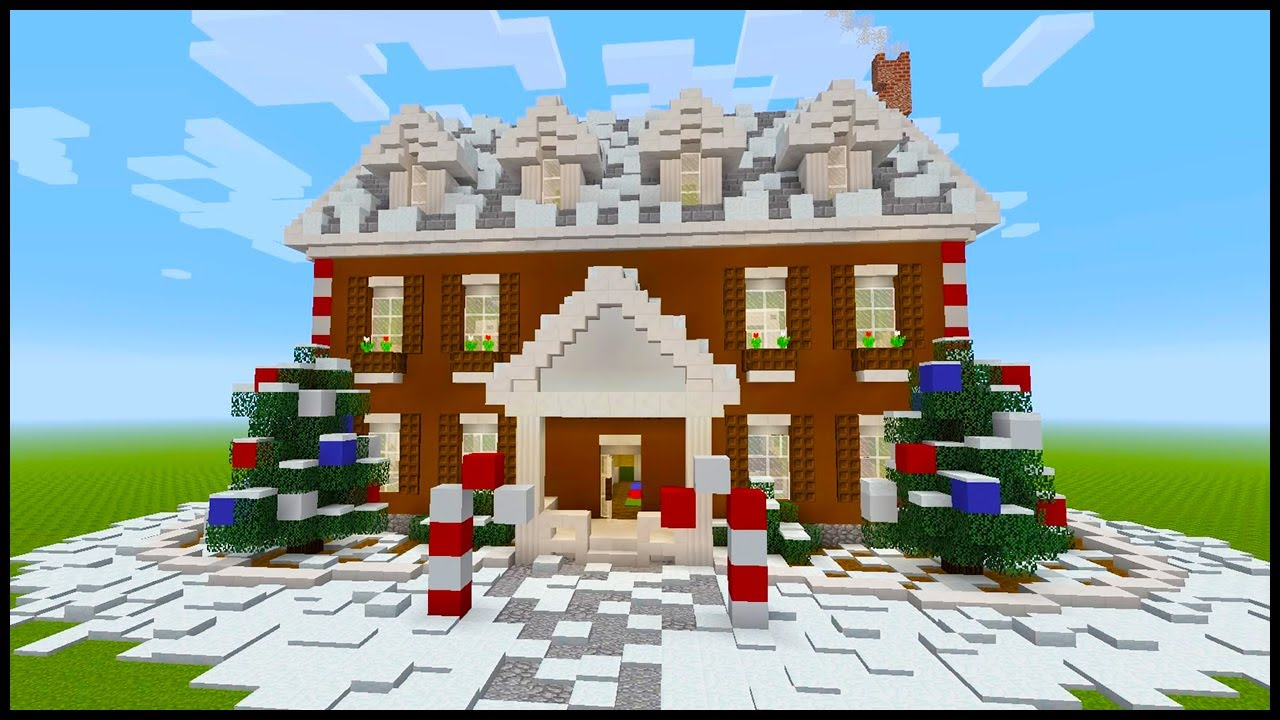 Minecraft Christmas Houses.Minecraft How To Build A Christmas Themed House Part 1