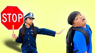 Police Wendy and Alex Pretend Play Ride On Toy Cars & Jail Video for Kids