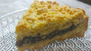 Песочный Пирог из СССР Тертый пирог с шоколадной начинкой