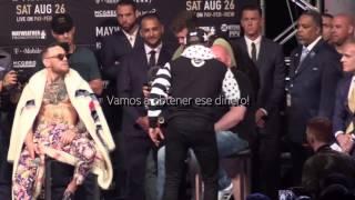 Tercer cara a cara de Floyd Mayweather vs Conor Mcgregor!!! subtitulado al español
