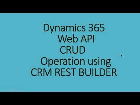 Dynamics 365 WEB API CRUD – TDG