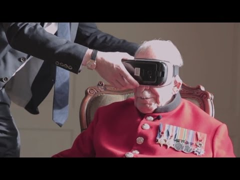 WW2 veteran returns to France with virtual reality