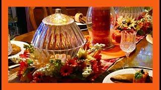~Fall DIY~ 🍁Dollar Tree Fall Centerpiece Glass LIGHT UP Pumpkin 🍁