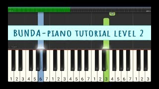 Bunda not piano level 2 - melly goeslaw - angka melodi