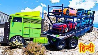 GTA 5 Experiment - Hauler Truck Vs Phantom Truck Vs Mount Chiliad
