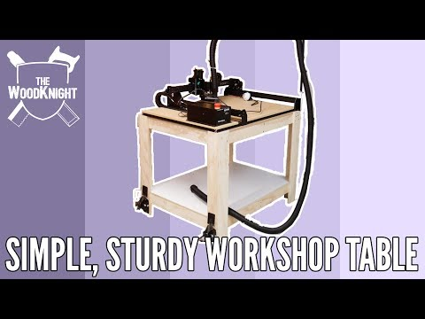 Simple, Sturdy Workshop Table (Free Cut List)