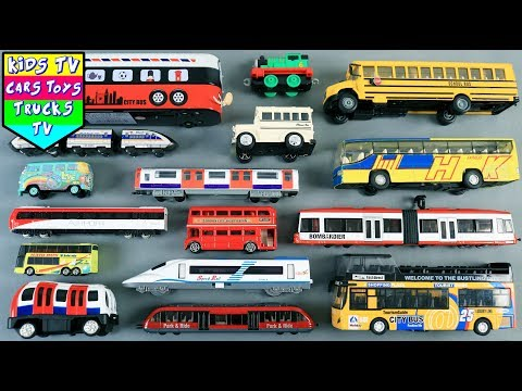 Learn Buses And Trains For Kids Children Babies Toddlers | Vehicles For Kids | Kids Learning Video