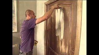 видео Покраска деревянных дверей своими руками