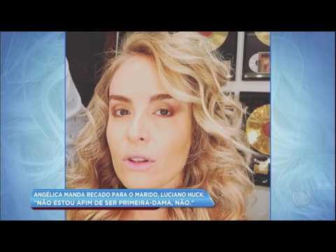 Hora da Venenosa: Angélica fala sobre suposta candidatura à presidência de Luciano Huck