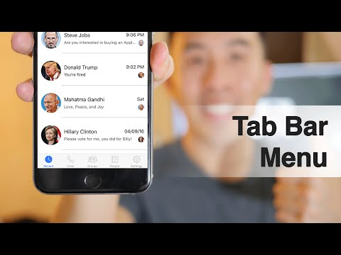 Swift: FB Messenger - How to create a Tab Bar Menu, Cell Highlights