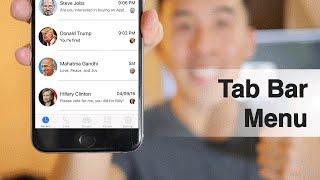 سويفت: FB Messenger - كيفية إنشاء شريط التبويب القائمة ، الخليوي الضوء ، NSDate صيغ (Ep 4)
