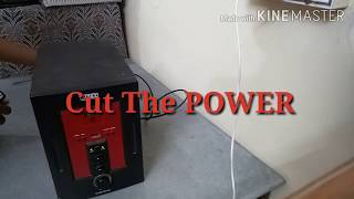 Opening A INTEX IT-1700 Home Theater Multimedia Speaker System