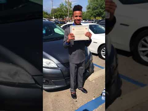 Christian had graduation at Carter High School for kolb middle school part 5