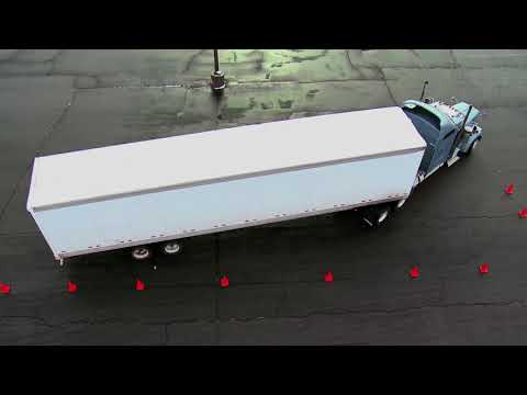 How To Blindside Parallel Park a Tractor Trailer