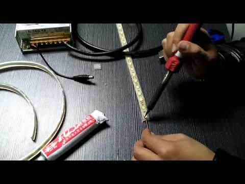 How to cut off and solder wire with ip68 led strip light youtube how to cut off and solder wire with ip68 led strip light aloadofball Images
