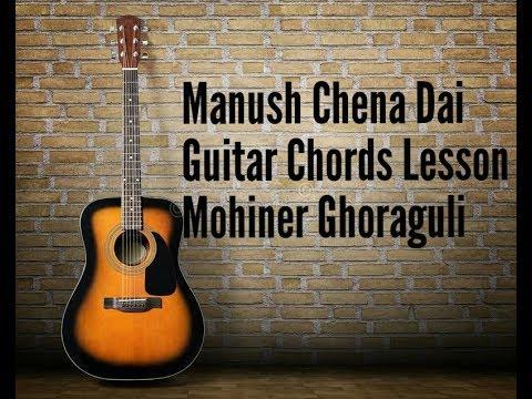Manush Chena Dai  (Guitar Chords Lesson ) Mohiner Ghoraguli