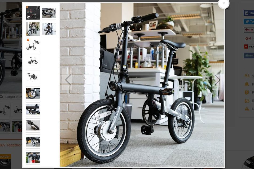 xiaomi smart electric power folding bike bluetooth 4 0. Black Bedroom Furniture Sets. Home Design Ideas