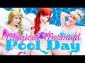 Disney Princess Adventure - Magical Mermaid Pool Day!