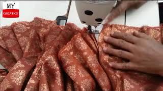 GHARARA cutting & stitching full tutorial   professional style easy gharara cut & stitching  2018