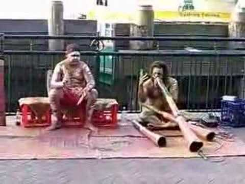 Aboriginal DIDGERIDOO Playing Live in Sydney