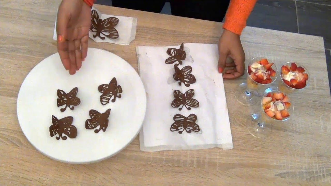 Chocolate Butterfly Decorations Youtube