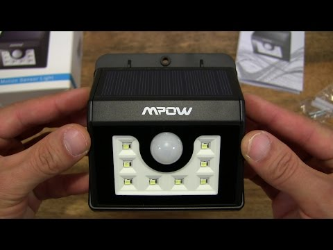 Mpow Solar Powered 8 LED Motion Sensor Light