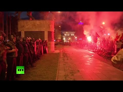 Stones, torches & tear gas: Macedonians protest country's name change