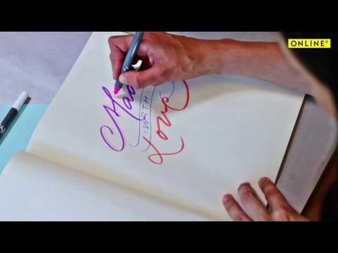 ONLINE Calli.Brush Pens | Hand Lettering Mit Den Calli.Brush Pens    Duration: 105 Seconds.