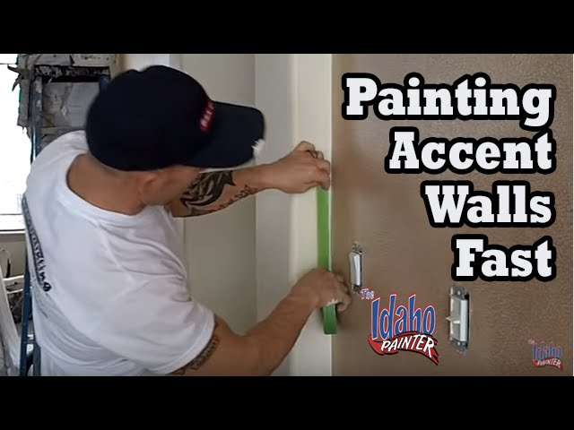 Painting An Accent Wall Quickly Paint Different Wall Colors Youtube