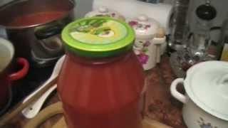 Как приготовить консервированный томатный сок