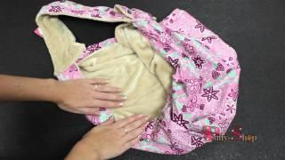 Сумка-гамак для собак LuxDog Малина