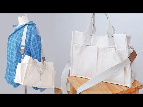 새학기 가방, 캔버스가방 만들기 DIY / 가방 만드는 방법 / 수납 가방 / sewing tutorial