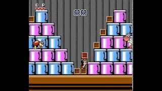 Chip n Dale NES all stages 60fps