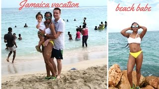 vlog jamaica vacation vlog hellshire beach body after baby food