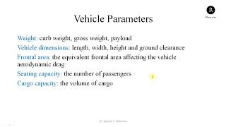 Basic Parameters of  Electric Vehicle | Fundamentals of Electric Vehicle Engineering - 5
