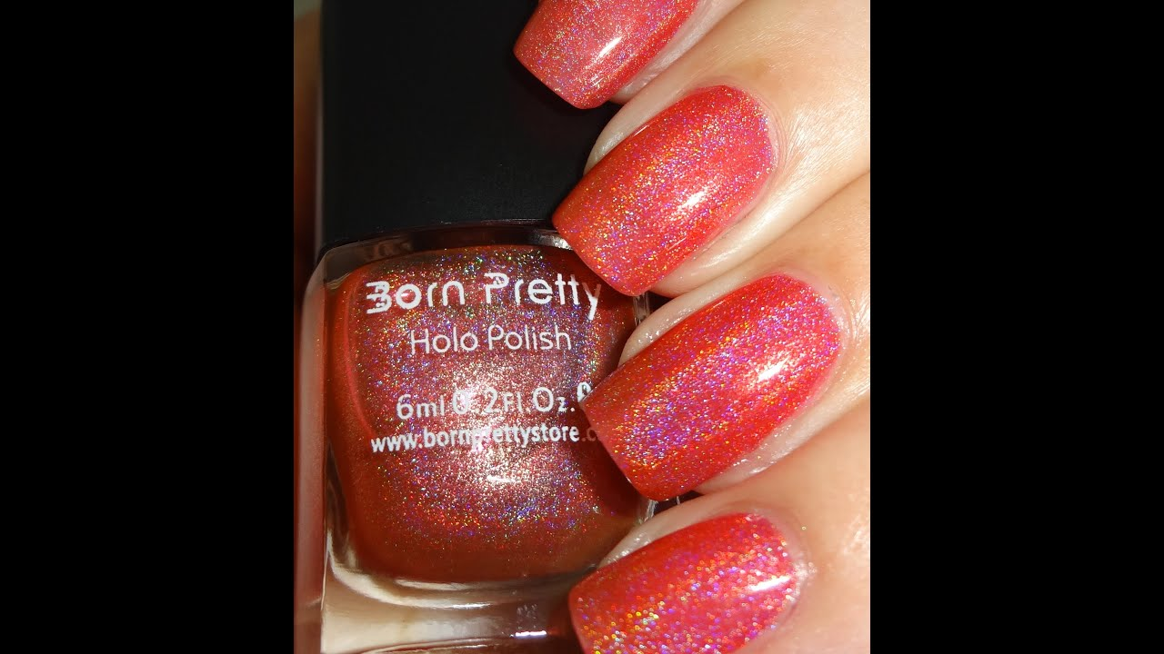 Born Pretty Red Holo Nail Polish