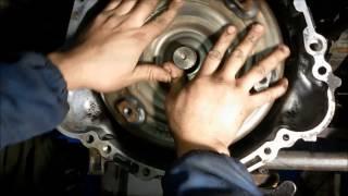 Замена фильтра АКПП,устанавливаем кробку на место Mitsubishi Pajero Sport