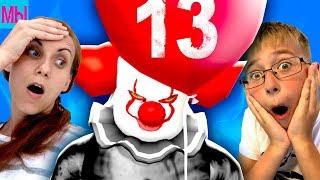 - Пятница 13 Страшный клоун ОНО против Мы играем Челлендж на выживание Мама превратилась в клоуна ШОК
