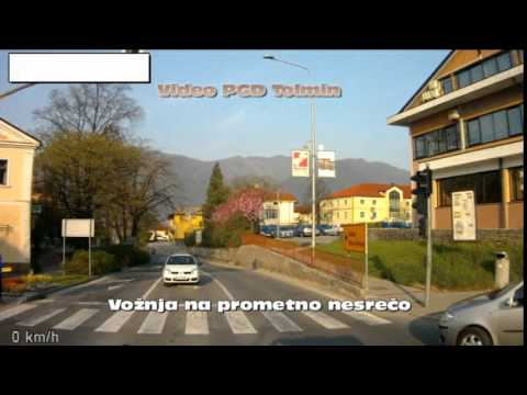 Vožnja PGD Tolmin HTV-1 na prometno nesrečo
