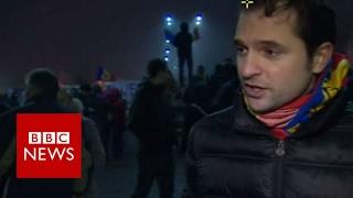 Romania protesters demand more - BBC News